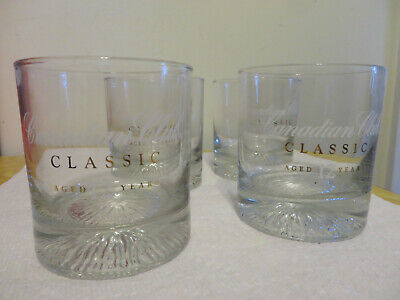 Four Canadian Club Classic 12 Years Whiskey Glasses