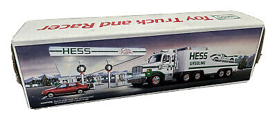 1988 Hess toy truck and racer - NEW IN BOX