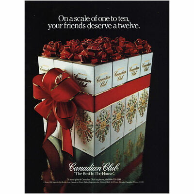 1981 Canadian Club: On a Scale of One to Ten Vintage Print Ad