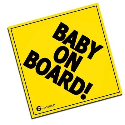 Yellow 'Baby On Board' Magnet ZoneTech