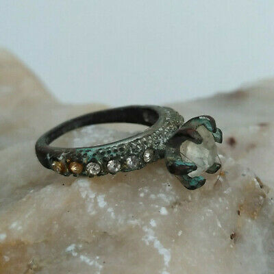 Rare Extremely Ancient Bronze Roman Authentic Ring Medieval OLD AMAZING Artifact