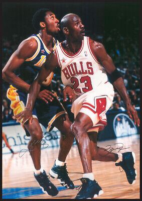 Kobe Bryant and Michael Jordan Reproduction Signature Poster 24 X 36