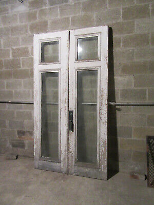 ~Set Of Antique Double Storefront Doors ~ 52 X 94.75 ~ Architectural Salvage ~