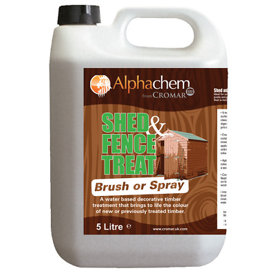 Shed & Fence Treat and Restore Timber Quick Dry Water Based Brush or Spray Apply