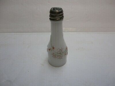 Antique Forget Me Not Peewee Salt Shaker,  White Milk Glass