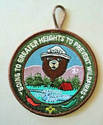 Smokey Bear Balloon Boy Scout Jamboree patch--Going to Greater Heights   2010