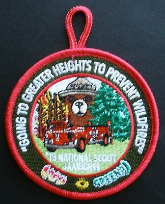 Smokey Bear Balloon Boy Scout Jamboree patch--Going to Greater Heights