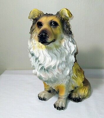 "10"" resin collie statue"