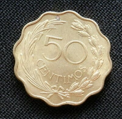 Paraguay, Vintage Uncirculated 50 Centimos 1953, World Foreign Coin, Km# 28