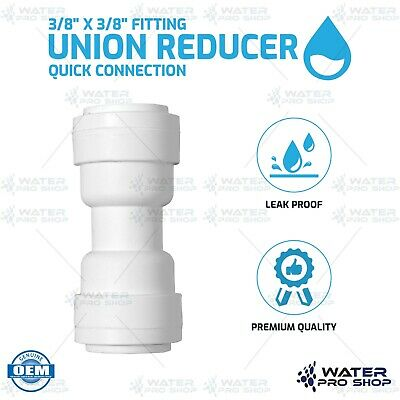 """Union Reducer 3/8"""" x 3/8"""" Fitting Quick Connection for Water Filters RO Systems"""