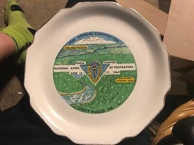 POSTMASTERS Chapter June 14 1964 Unity House PA 30th Anniv Collectors Plate RARE