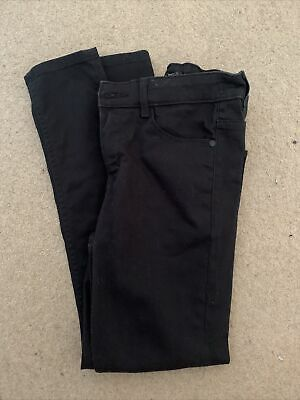 NEXT Boys Black Skinny Jeans Age 12 Years BNWOT *LOOK* With Adjustable Waist