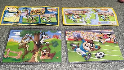 Kinder Puzzle Un083 + Un082 Looney Tunes + Cartine