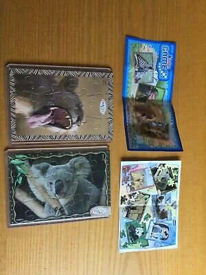 Kinder Puzzle Nv404 Koala + De155 Leone + Cartine