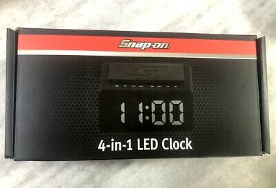 New Snap-on 4-in-1 LED Alarm Clock Wireless Charger Bluetooth Speaker FM Radio