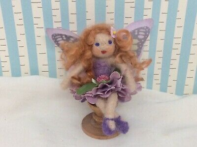 Handcrafted Purple  Flower Fairy Doll