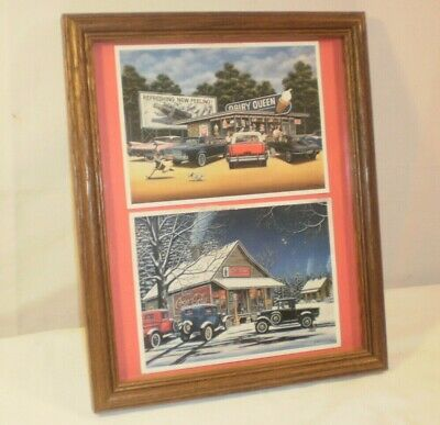 Dairy Queen Drive In And Coca Cola General Store Pictures Framed