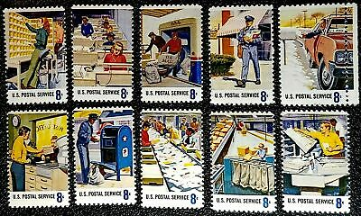 US POSTAL SERVICE EMPLOYEES STAMPS: USPS Workers United States Post Office, 1973