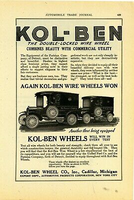 1920 Kol-Ben Wheel Co. Ad: Parisian Company of Detroit - Delivery Truck Pictured