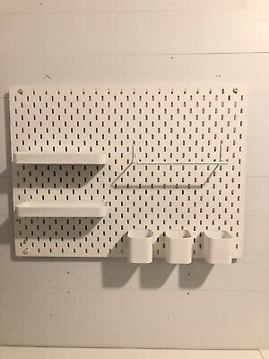 IKEA Skadis Pegboard White 103.216.18 Size 30x22 with accessories gently used