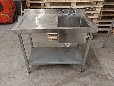 Catering commercial Single Sink Stainless Steel Tap & Waste included