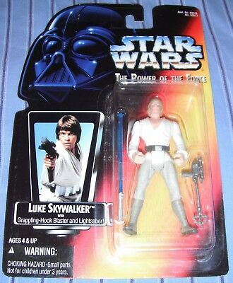 Star Wars Luke Skywalker Potf Red Card - Short Lightsaber / Lightsabre