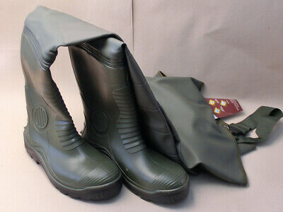 vidaXL Wading Pants with Boots Green Size 41