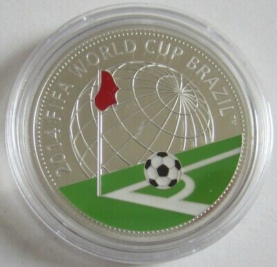 Belarus 20 Roubles 2013 Football World Cup in Brazil Silver