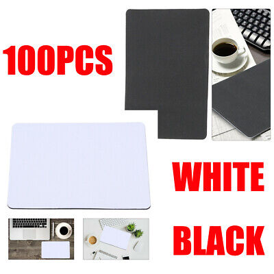 100x Sublimation Blank White Mouse Pad DIY Printed Heat Transfer Press Mouse Mat