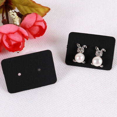 100x Jewelry earring ear studs hanging display holder hang cards organizer T Mi