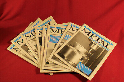 8 Magazine Lot of Projects in Metal Paperback Magazine 1995-1998