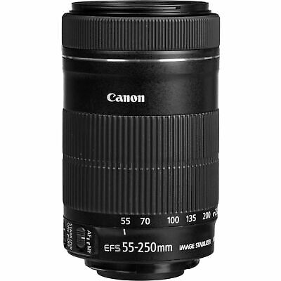 New CANON EFS 55-250mm f/4-5.6 IS STM Image Stabilizer Zoom Lens