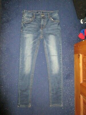 boys boy age 12 years next skinny blue jeans adjustable waist worn once