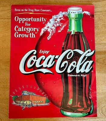 1999 Coca-Cola Poster Opportunity For Category Growth Focus Drug Store Consumer