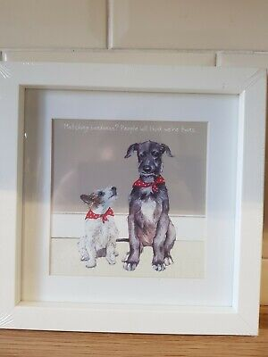 Dog Print - Twins  A playful little Dog By Anna Danielle Digs & Manor
