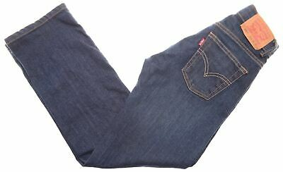 LEVI'S Boys Jeans 9-10 Years W23 L25 Blue Cotton Regular 505 CG14