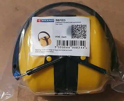 Beeswift BBFED Folding Ear Defender Yellow SNR 30DB..brand New In Bag