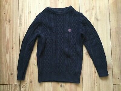 Next, Boy's Blue cable knit jumper  (5 yrs), pre-owned.