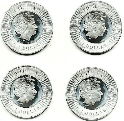 2016 AUSTRALIAN KANGAROO SILVER DOLLARS - Lot of 4 coins