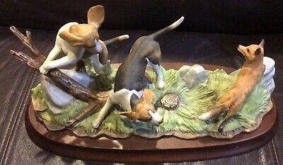 Foxhounds by Andrea Porcelain Figurine