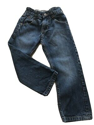 NEXT Boys Faded Dark Wash Jeans with Adjustable Waist 5 Years Height 110cm
