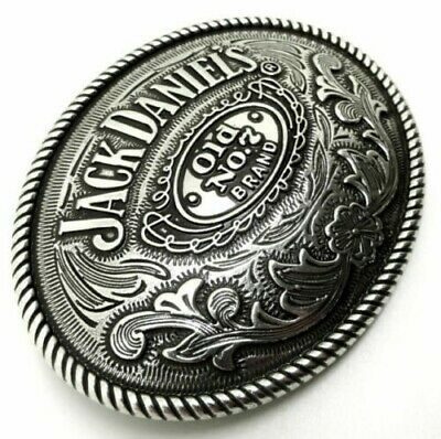 Jack Daniels No. 7 Large Oval Belt Buckle 40mm wide