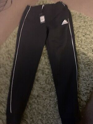 Adidas Men's Black Track Suit Bottoms , Core 18 Sweat Pants Size M- new with tag
