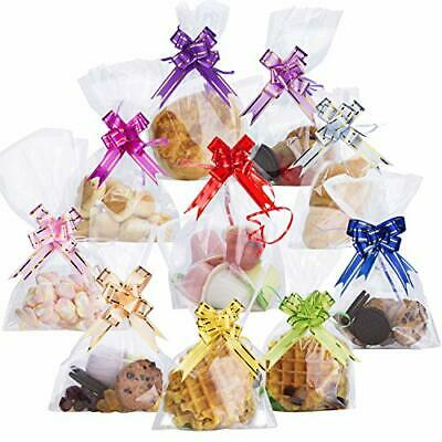 """100PCS Clear Cellophane Treat Bags 6"""" X 10""""  Clear Resealable Flat Cello"""