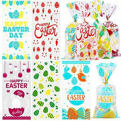 200pcs Easter Candy Bags Easter Cellophane Gift Bag Easter Sweet Cookie