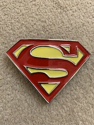 Superman Belt Buckle Trousers Pants Red Yellow Silver Superwoman DC Comic Hero