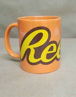 "Reese's Peanut Butter Coffee Mug Candy Cup Large New Ceramic 4"" GIFT COLLECTOR"