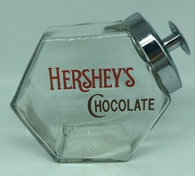 Hershey's Chocolate Glass Candy Counter Jar