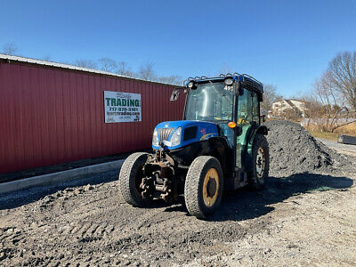 2012 New Holland T4040 4x4 75Hp Narrow Utility Tractor w/ Cab Only 3100 Hours!