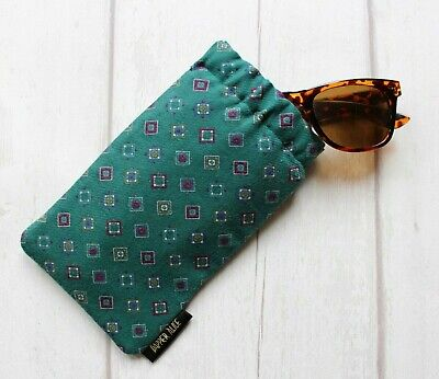 Recycled Vintage 80s Laura Ashley Fabric Sunglasses Case. Glasses Pouch Retro